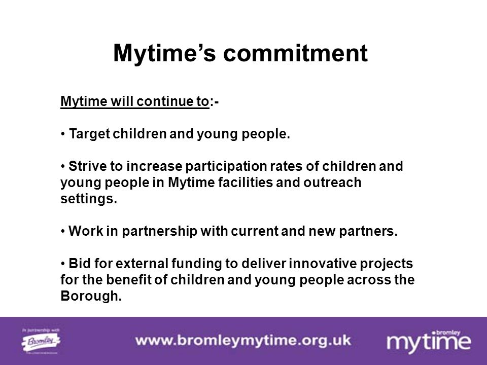 Bromley Mytime Reaching Disadvantaged Children & Young People