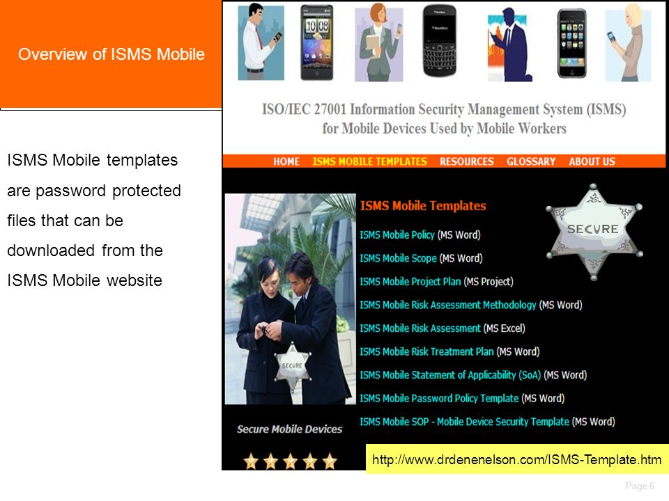 ISMS for Mobile Devices Page 1 ISO/IEC Information Security ...