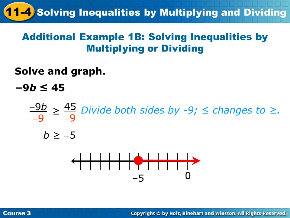 Solving inequalities using multiplication and division worksheet.