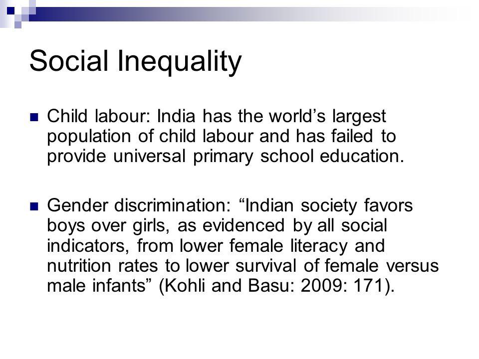 gender discrimination in indian society
