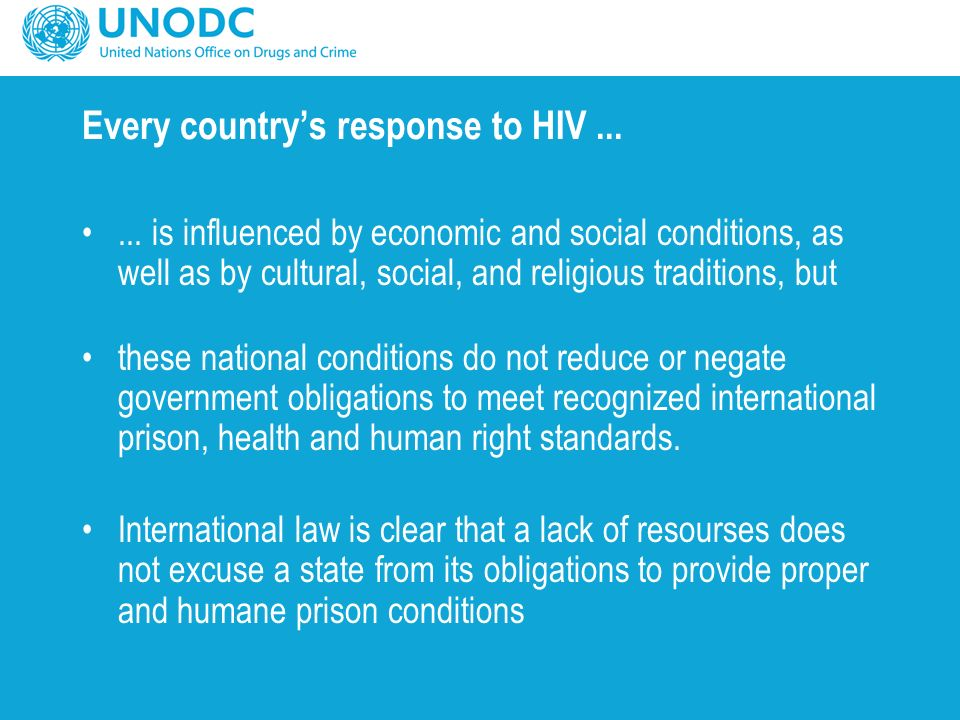 Every country's response to HIV......