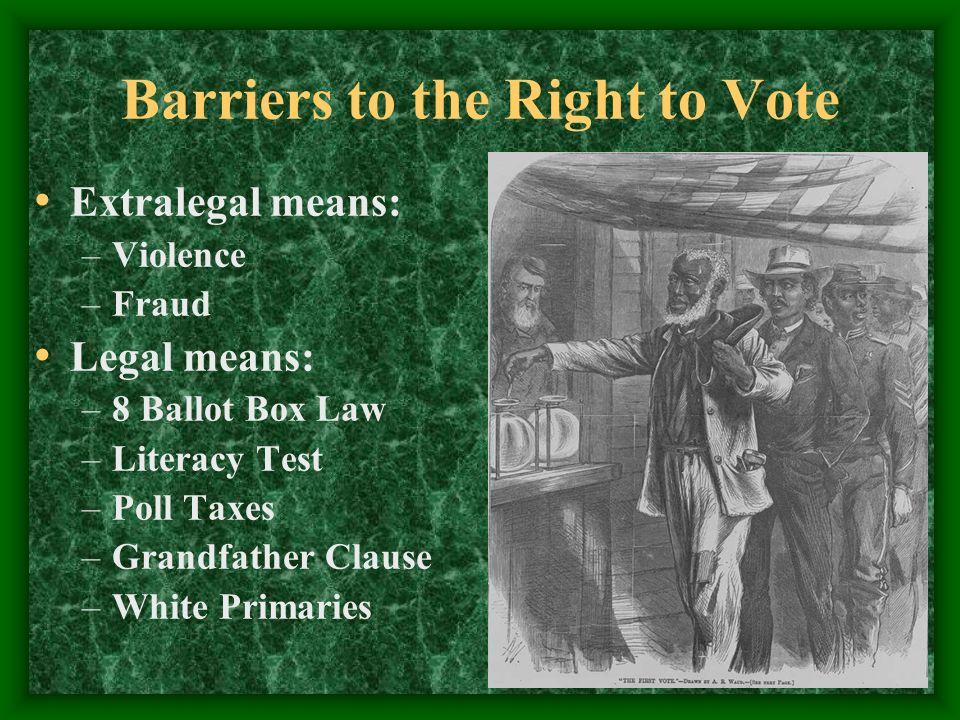 Gilded Age Politics Reform Us History Ii Barriers To The Right