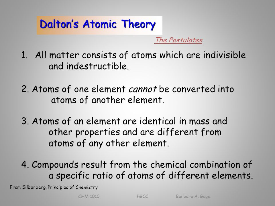 law of indestructibility of matter