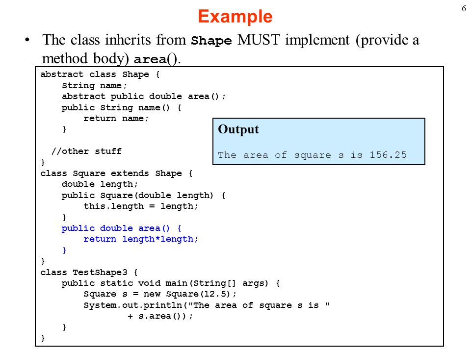 Write a programin java for abstract class examole shape most influential biographies
