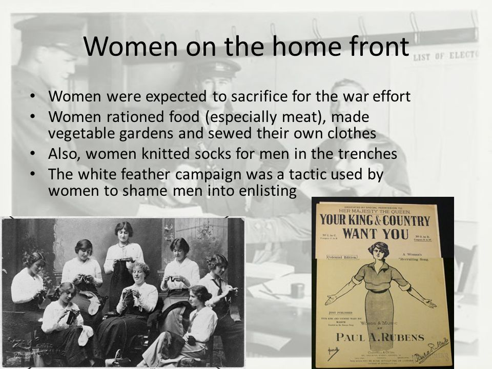 during the war many women were expected to