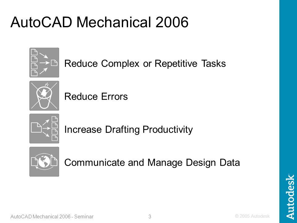 1 AutoCAD Mechanical Seminar Advanced Micro Systems, Inc