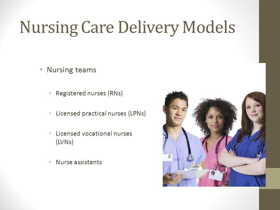 Nursing Nursing Care Delivery Models Nursing Teams Registered