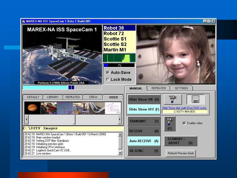 ISS-HAM Slow Scan Television (SSTV) Project A joint AMSAT-NA And