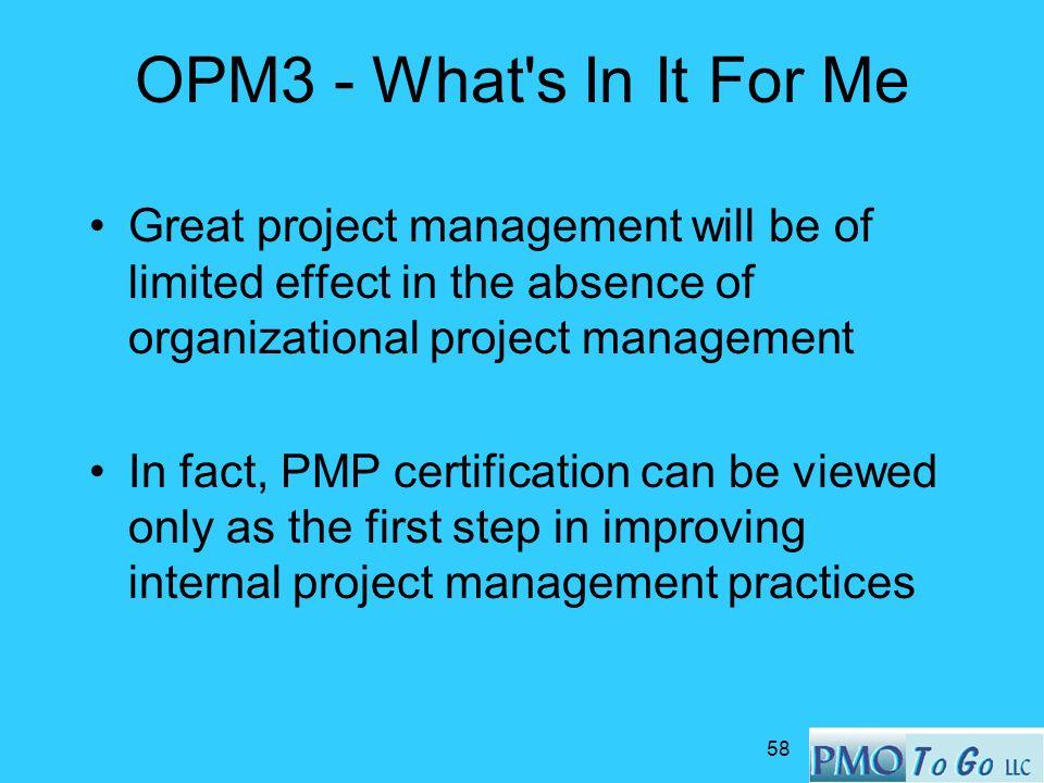 Opm3 Organizational Project Management Maturity Model Walter A
