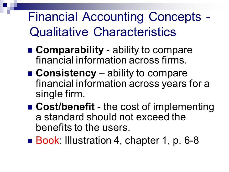 benefits of accounting concepts