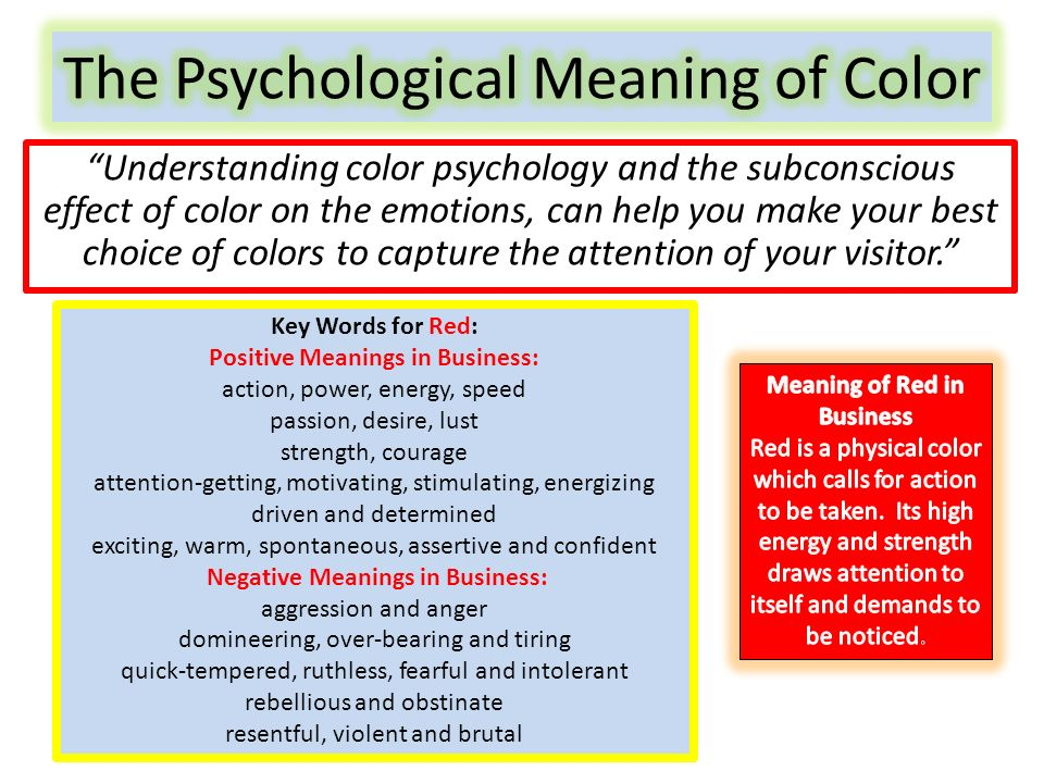 2 \u201cUnderstanding color psychology and the subconscious effect ...