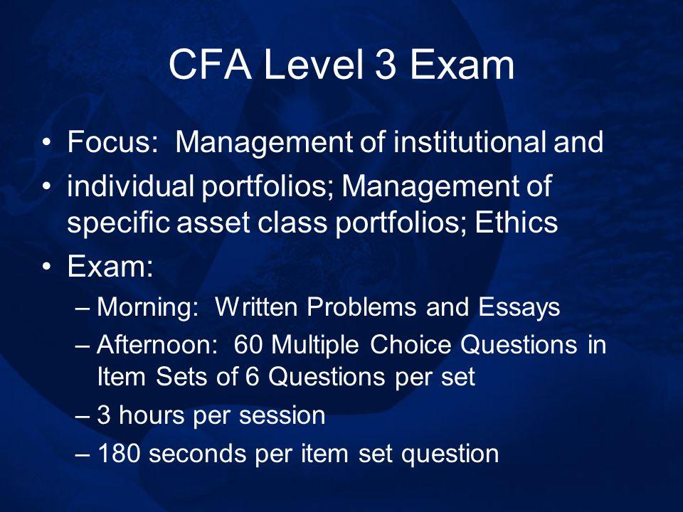 CFA Program Dr  Greg Filbeck, CFA, FRM, CAIA Samuel P  Black