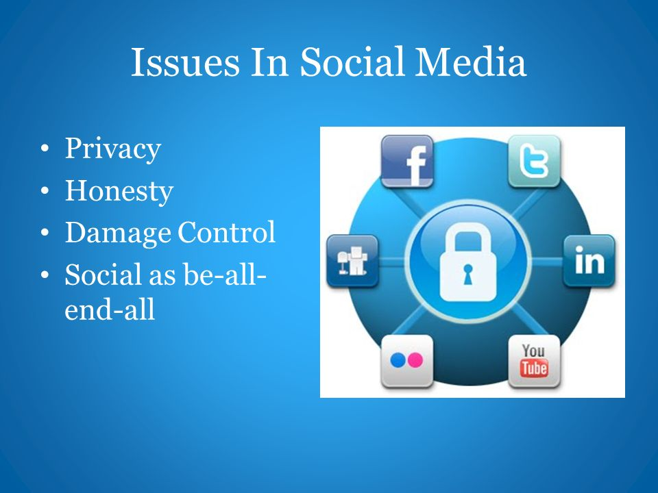 Issues In Social Media Privacy Honesty Damage Control Social as be-all- end-all