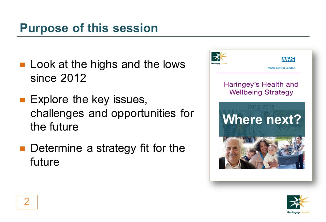2 Purpose of this session Look at the highs and the lows since 2012 Explore the key issues, challenges and opportunities for the future Determine a strategy fit for the future Where next
