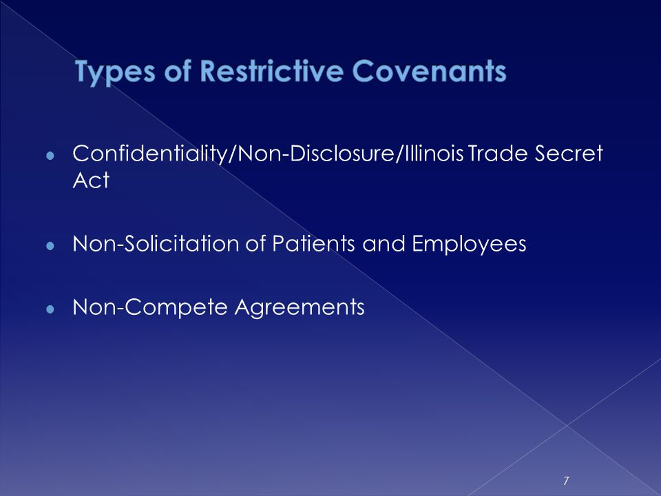 Update On Case Law Affecting Physician Restrictive Covenants In