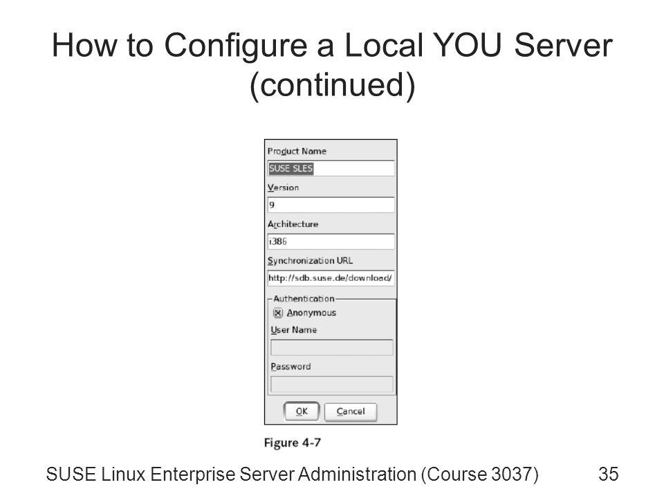 SUSE Linux Enterprise Server Administration (Course 3037