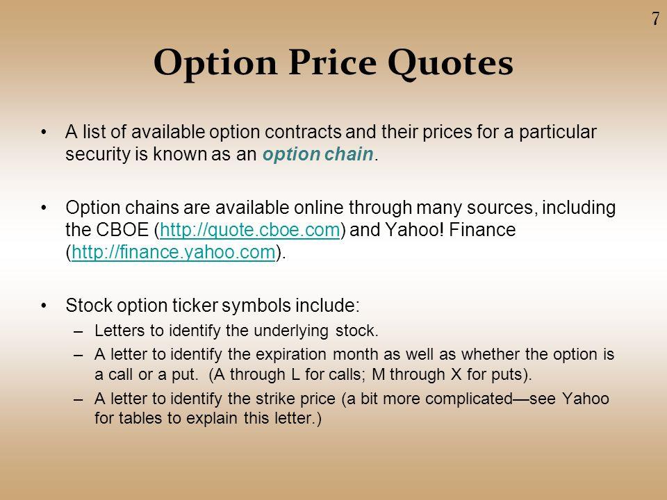 Financial Options: Introduction  Option Basics A stock