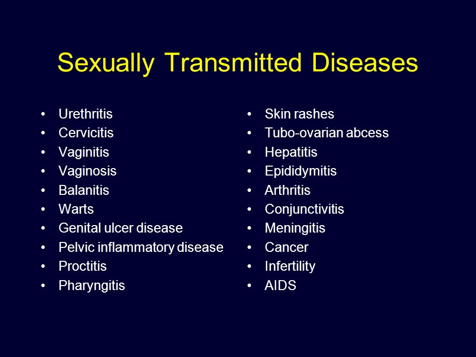 Balanitis sexually transmitted