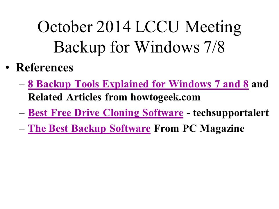 October 2014 LCCU Meeting We'll answers members' questions