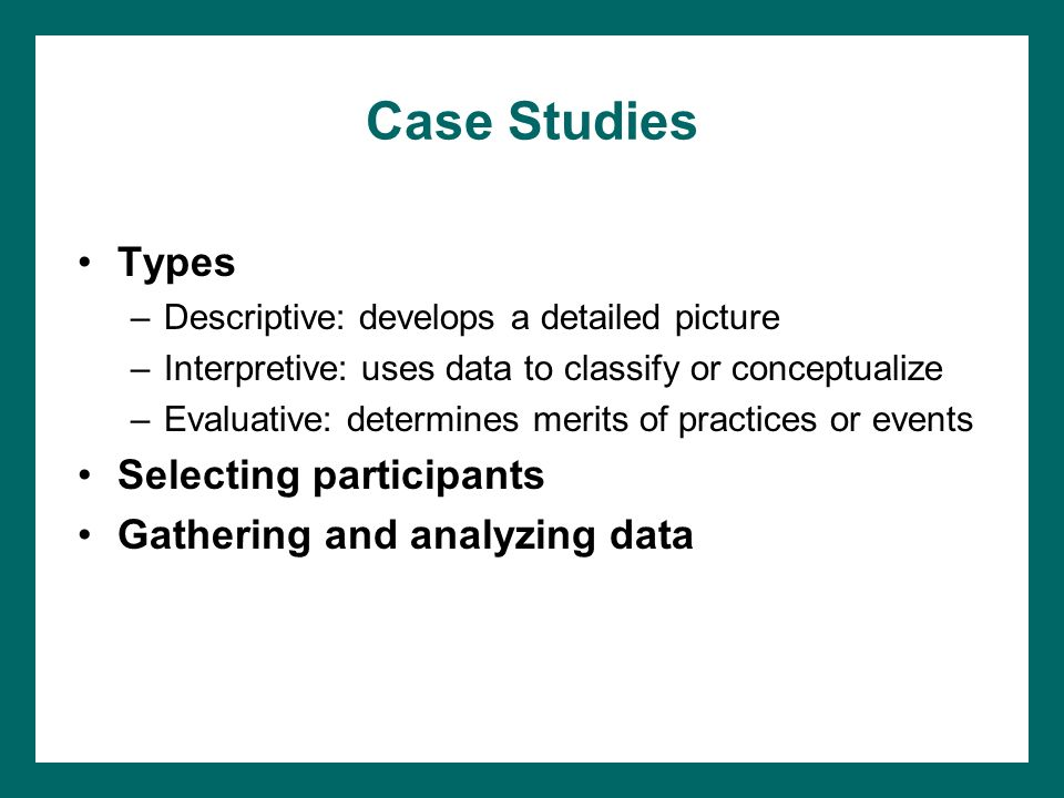 observational case study