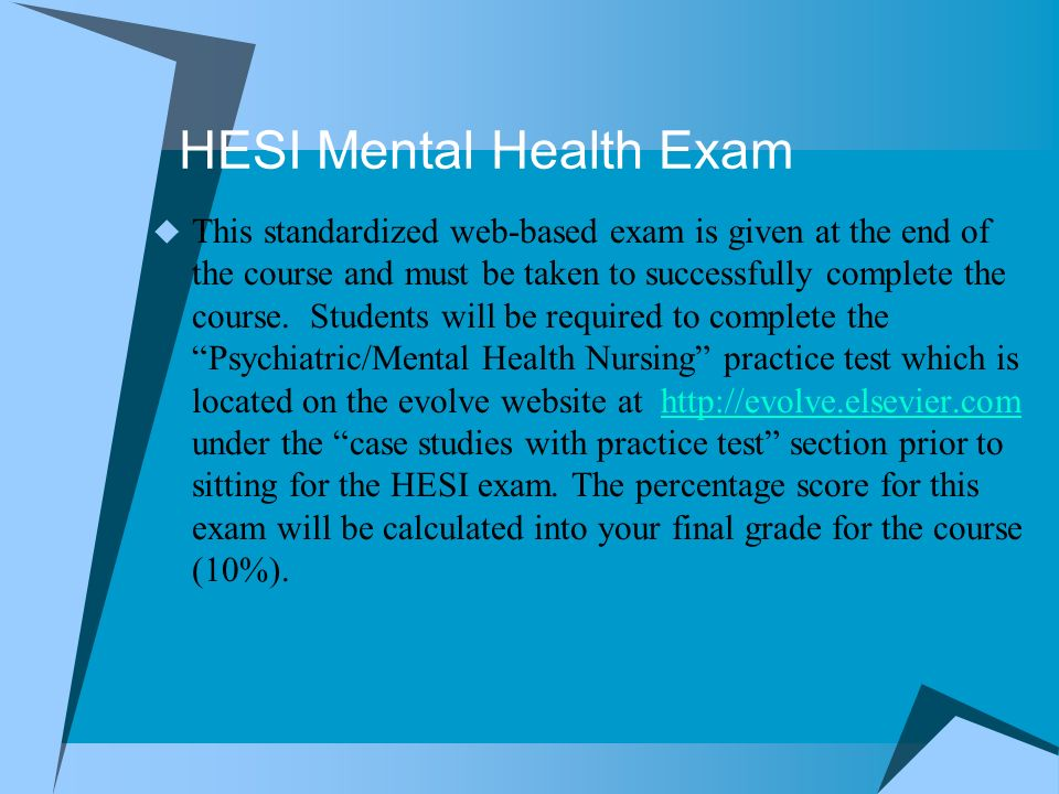 NRS 122 Concepts of Mental Health Nursing Orientation for Fall 2012