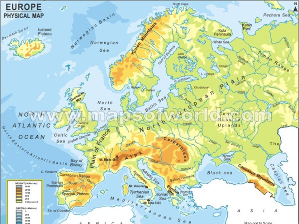 4 11 physical geography europe also consists of many significant islands great britain ireland iceland greenland sicily crete corsica