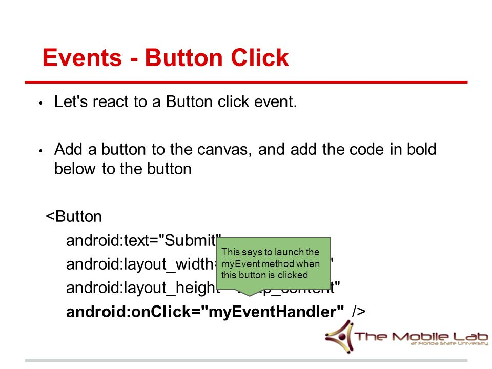 Mobile Programming Lecture 2 Layouts, Widgets, Toasts, and Event