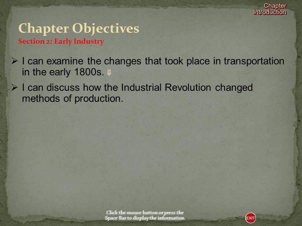 Section 2-Early Industry