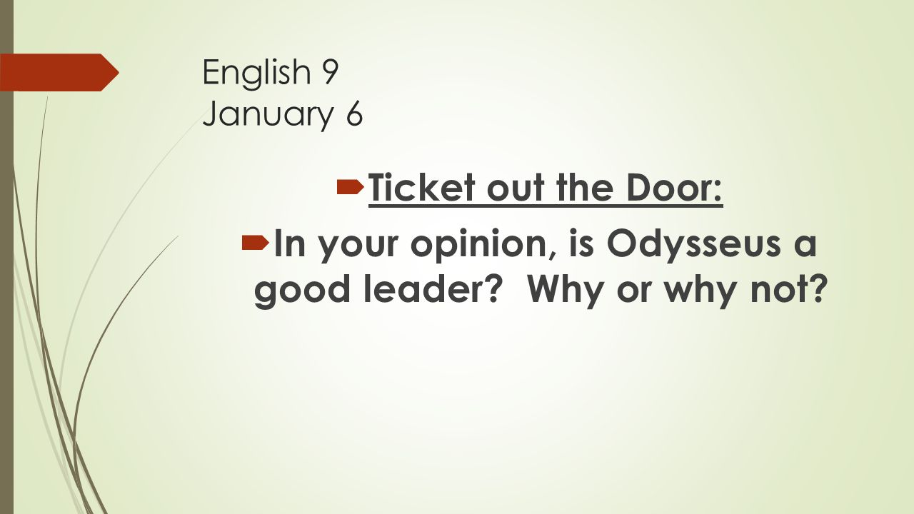 is odysseus a good leader