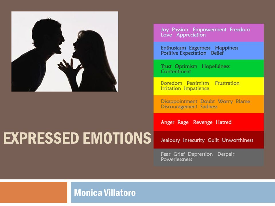 primary human emotions