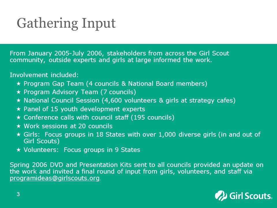 Girl Scout Leadership Development Program Recommendations August 7