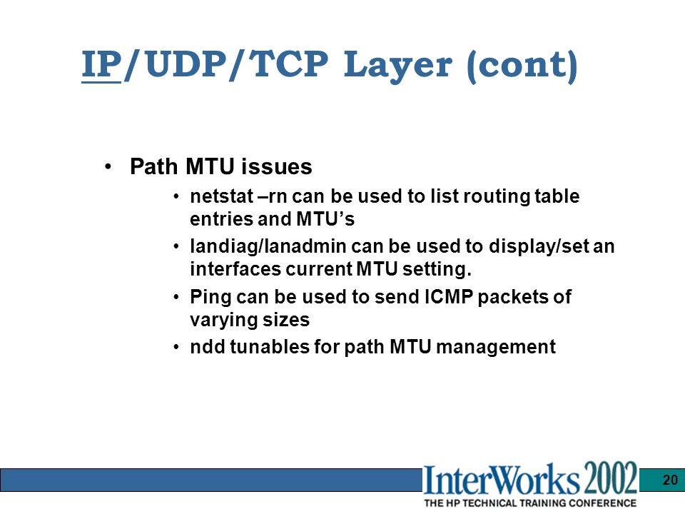 1 HP-UX Network Performance Tuning and Application Troubleshooting
