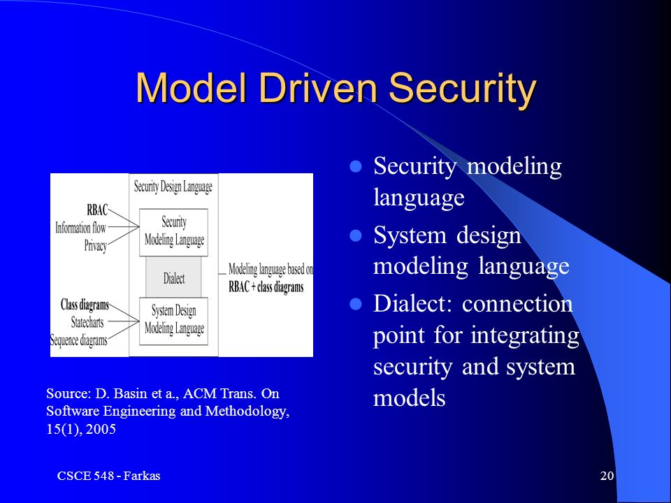Csce 548 secure software development security use cases ppt download model driven security security modeling language system design modeling language dialect connection point for integrating malvernweather Choice Image