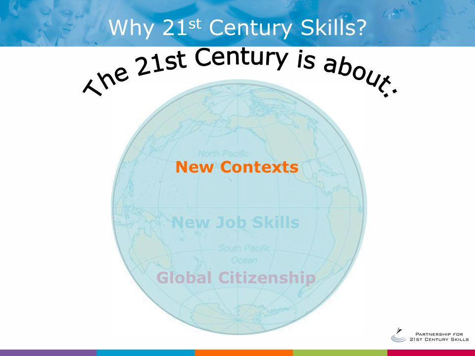 Why 21 st Century Skills New Job Skills Global Citizenship New Contexts