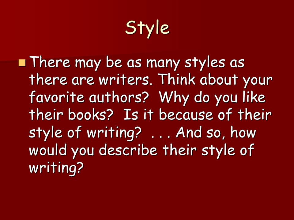 Style A Gift In His Shoes How Would You Describe The Writing Of This