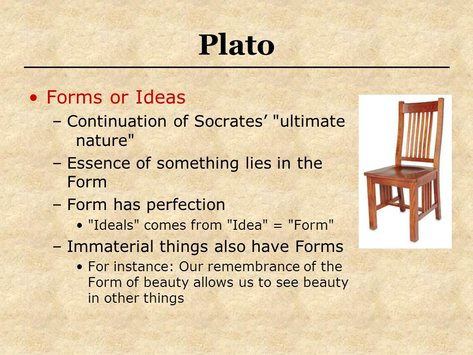 socratic creed vs platos theory of The theory of forms or theory of ideas is a viewpoint attributed to plato, which holds that non-physical (but substantial) forms (or ideas) represent the most accurate reality when used in this sense, the word form or idea is often capitalized [5.