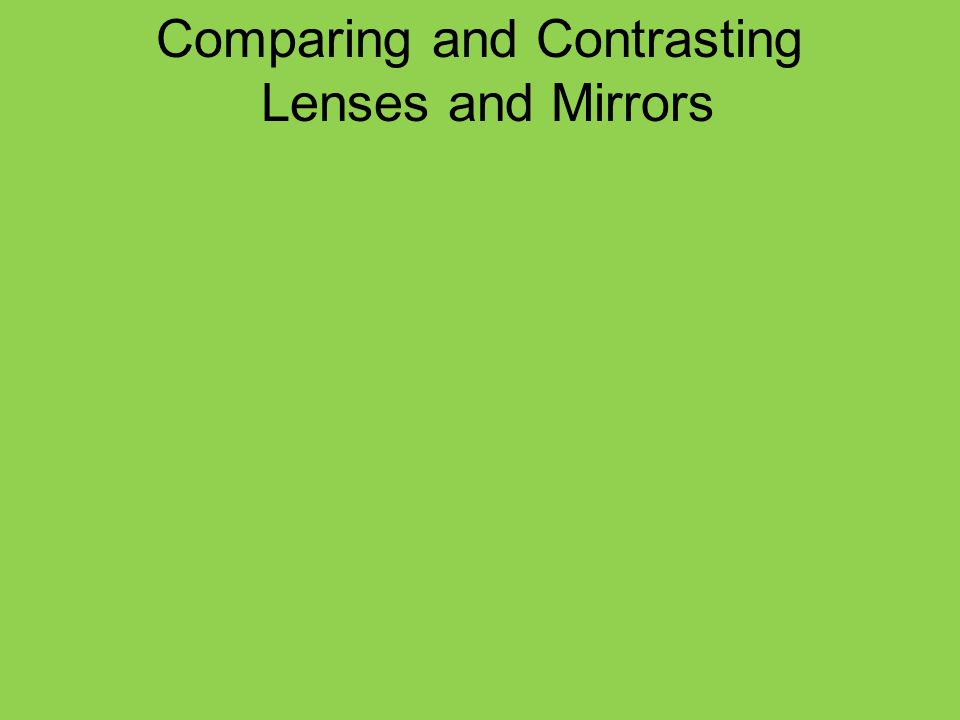 Comparing and Contrasting Lenses and Mirrors