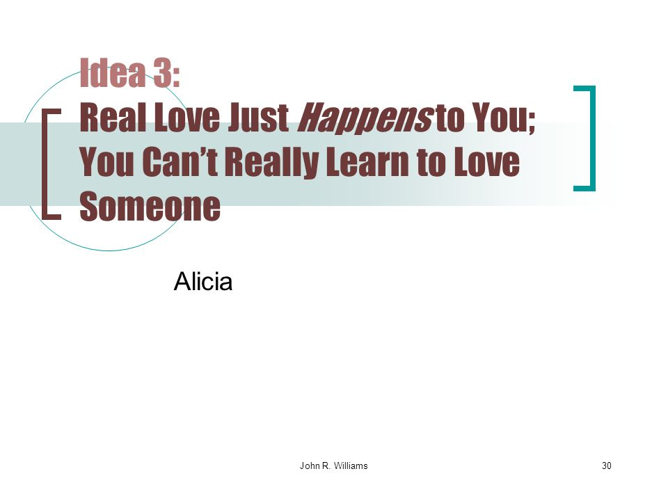 can you learn to love someone