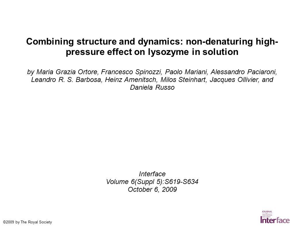Combining structure and dynamics  non-denaturing high- pressure ... e7e1981da14