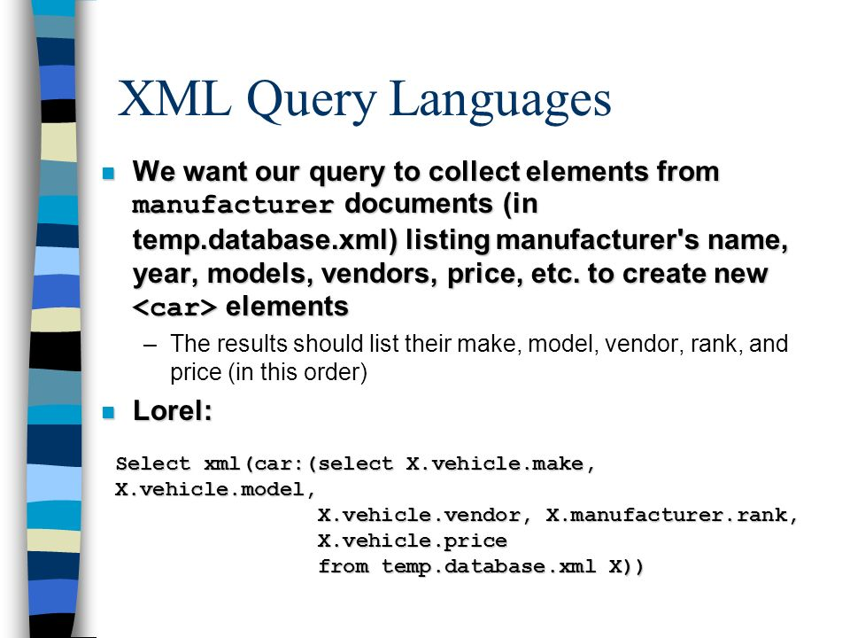 XML for E-commerce II Helena Ahonen-Myka  XML processing model n XML