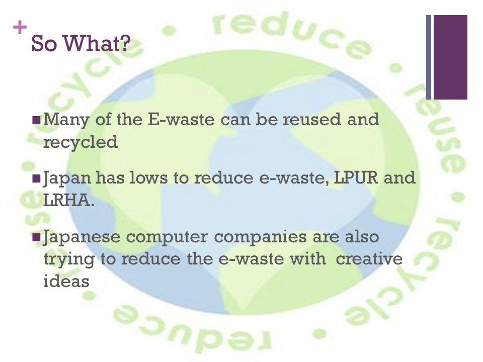 E-Waste in Japan Haruha Watanabe  + What is E-Waste? E-Waste