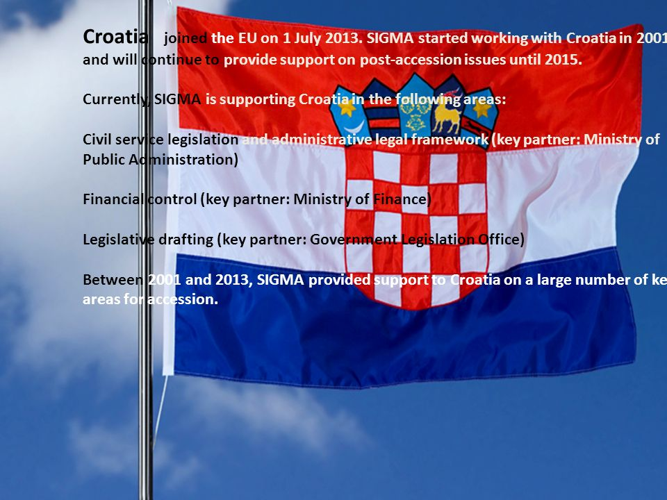 Croatia joined the EU on 1 July 2013.