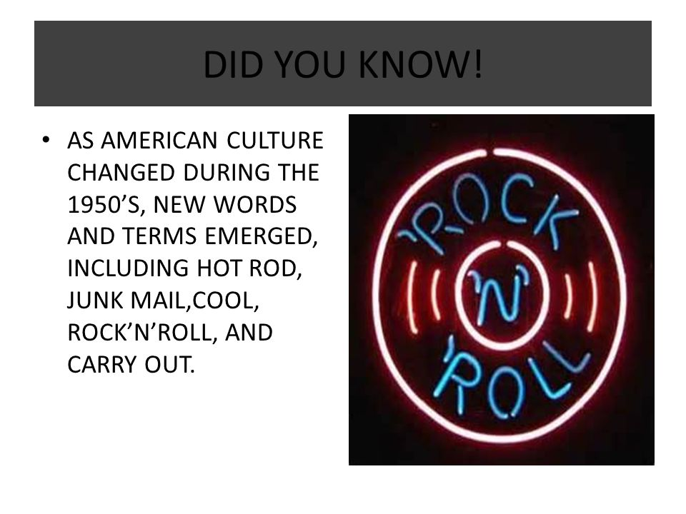 rock and roll terms