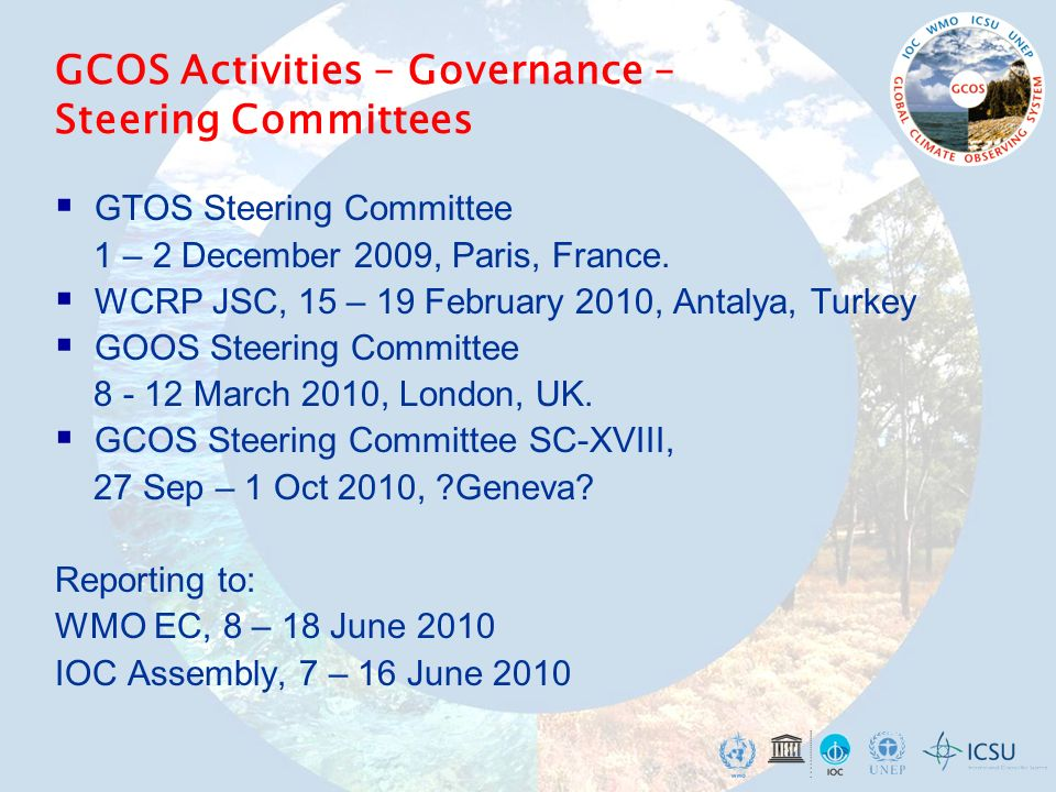  GTOS Steering Committee 1 – 2 December 2009, Paris, France.