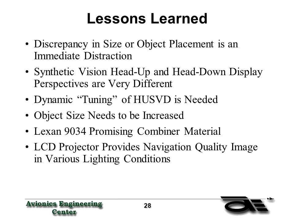 Flight Test Results of the Head-Up Synthetic Vision Display