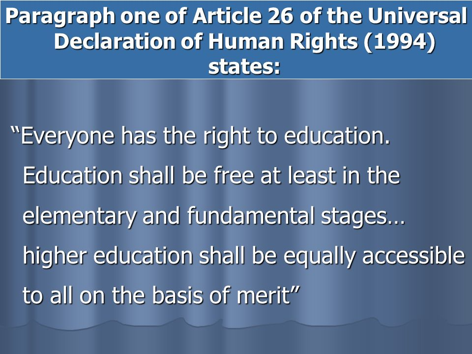 right to education paragraph