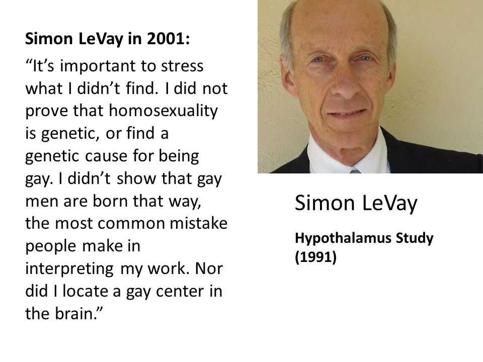 Levay 1991 homosexuality in christianity