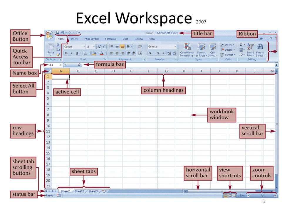 Excel Workspace