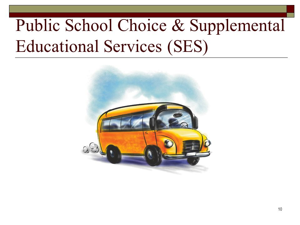 10 Public School Choice & Supplemental Educational Services (SES)