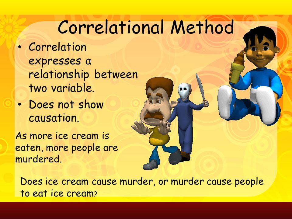 Correlational Method Correlation expresses a relationship between two variable.